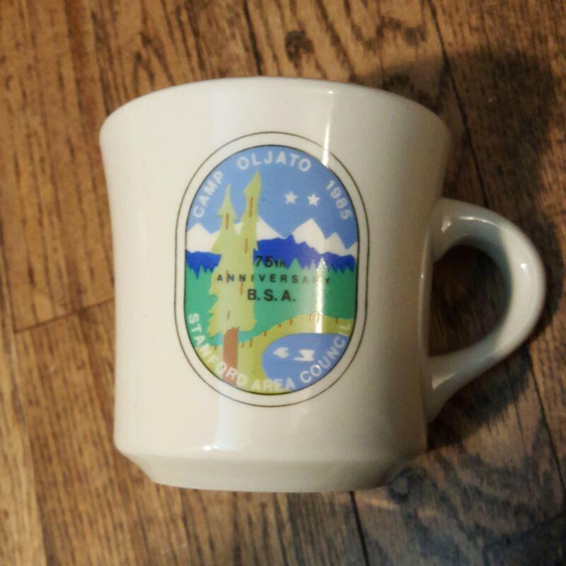 Vintage Boy Scouts Camp Olijato Stanford Area Council Camp Leader Mug USA BSA