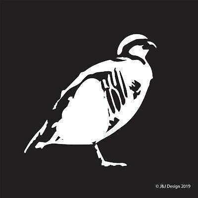 CHUKAR PARTRIDGE BIRD SILHOUETTE Vinyl Sticker Decal](Birds Silhouette)