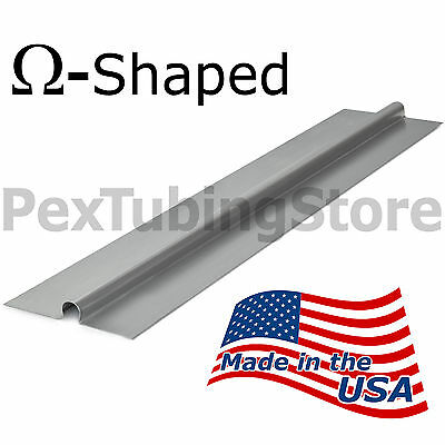 100 2ft Aluminum Radiant Heat Transfer Plates For 12 Pex Tubing Omega-shaped