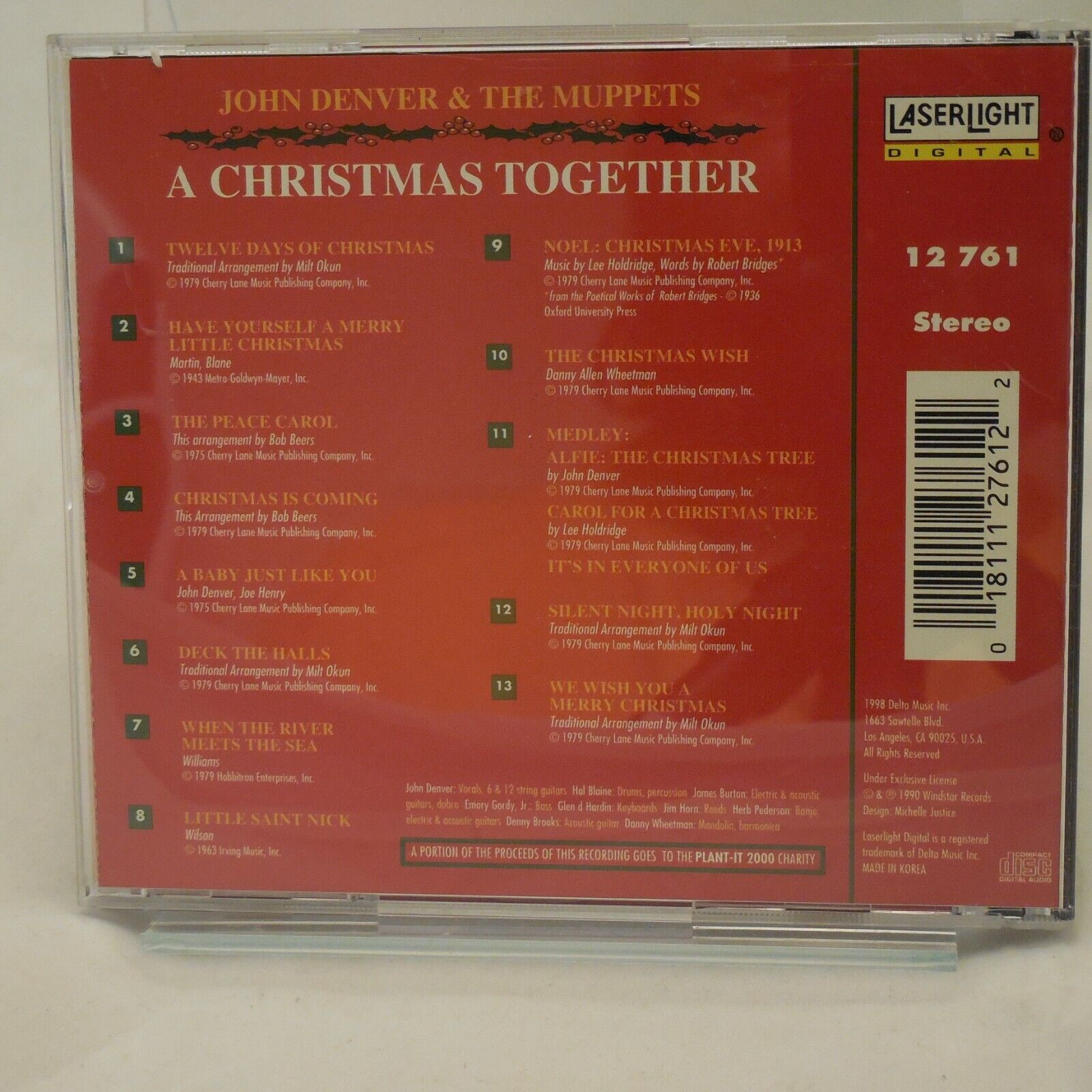 A Christmas Together By John Denver/The Muppets CD, Dec-1988, Laserlight  - $7.99