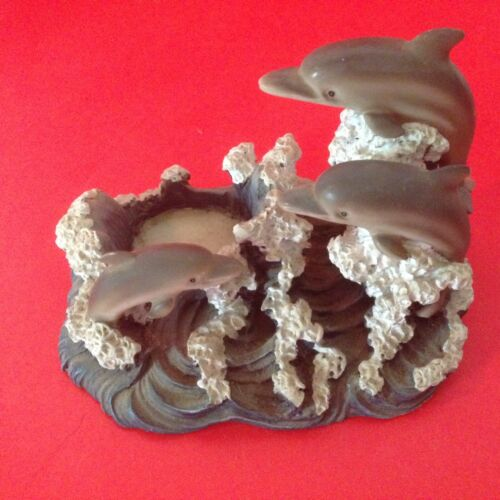 Three Jumping Dolphins Candle Holder