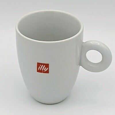 Illy Red Logo Coffee Cup Mug O Handle IPA Logo Italy 10 OZ Restaurant Ware