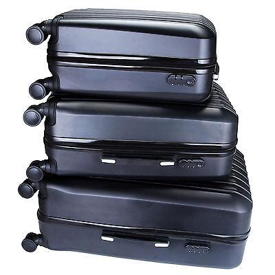 ABS 3Pcs Luggage Travel Set Bag Trolley Spinner Suitcase Expandable w/TSA Lock