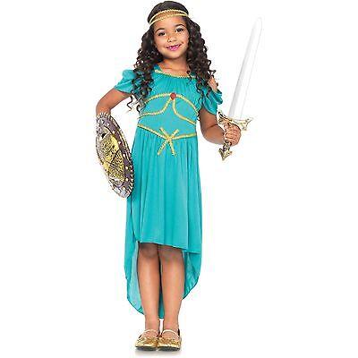 NEW Girls Princess WARRIOR GODDESS Costume Halloween Dress up Gown Size M - Girl Goddess Halloween Costumes