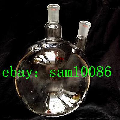 2000ml Two 2 Neck Round Bottom Flaskjoint 2440lab Flaskrb2lrbf