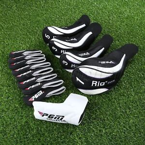 Diving Cloth Golf Head Cover Drive Wood Hybrid Iron Putter Headcover 13pcs/set
