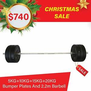 Olympic Barbell Bumper Plates Package Set  Home Gym Workout Fitness