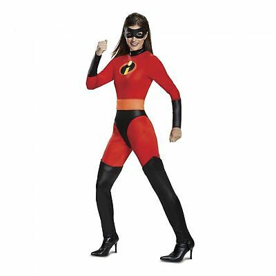 Adult Womens Disney Incredibles Mrs. Incredible Elastigirl Jumpsuit Costume S-XL - Elastigirl Costumes