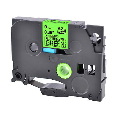 1pk Compatible Brother P-touch Tz Tze-d21 Black On Fluo Green Label Tape 9mm