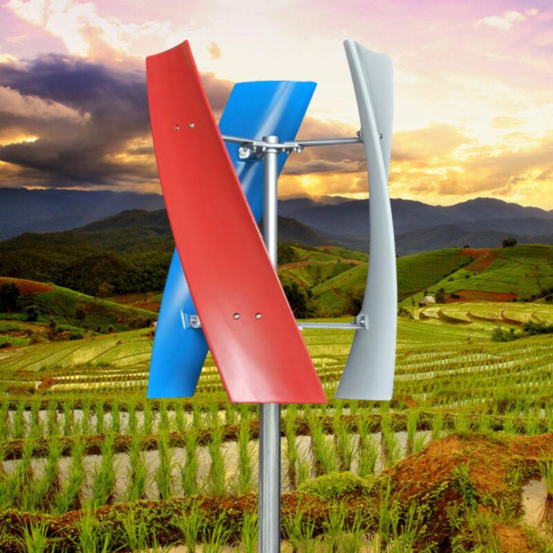 Wind Power Turbine Generator Vertical Wind Generator 400W 3 Blade w/ Controller