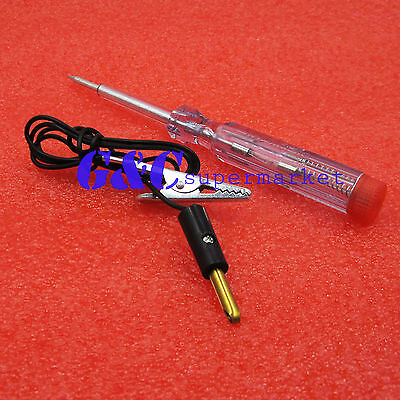 2PCS DC 6V-24V 12V Auto Car Motorcycle Circuit Voltage Tester Pen New
