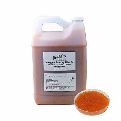 1 Gallon7.5 Lbs Drydry Premium Orange Indicating Silica Gel Desiccant Bead