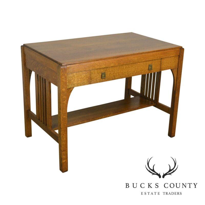 Mission Style Antique Oak Writing Desk