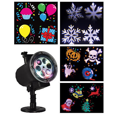 Christmas Lights LED Projector Snowflake Moving Landscape Xmas Outside Decor UK