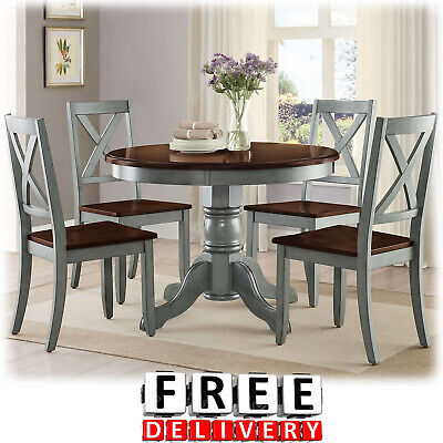Dining Table And Chairs Room 5 Piece Wood Modern Contemporary Room Kitchen Set
