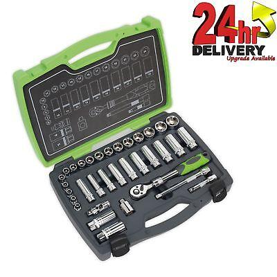 Sq Drive Socket Set (Sealey Premier AK7960 Socket Set 34pc 3/8