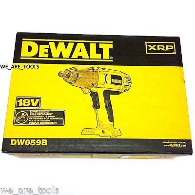 "NEW IN BOX Dewalt DW059 18V Cordless Battery Impact Wrench 1/2"" 18 Volt XRP"