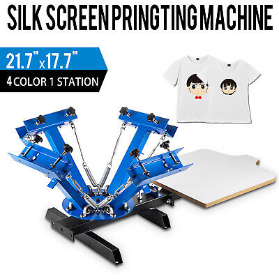 4 Color 1 Station Silk Screen Printing Machine Press Equipment T-shirt Pressing