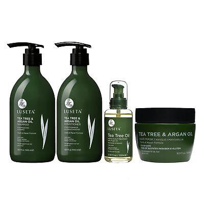 Luseta Tea Tree & Argan Oil Hair Care Set Natural Sulfate Free Formula ()