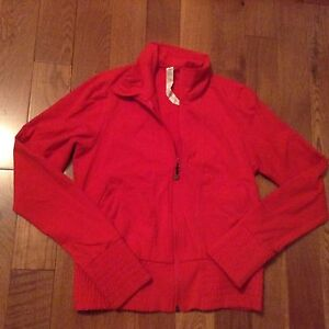 Lulu lemon red zip up sweater great condition