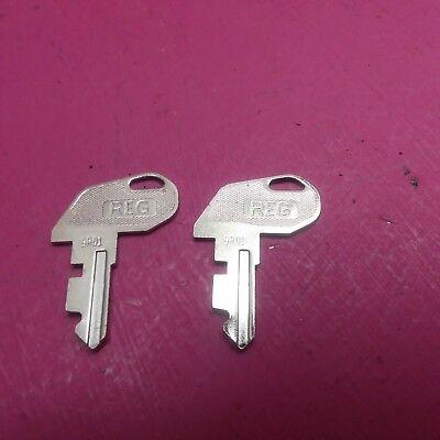 Parting Tec Ma-600 Cash Register 2 Reg Keys 9r01 Ffa-0049001 Tc23