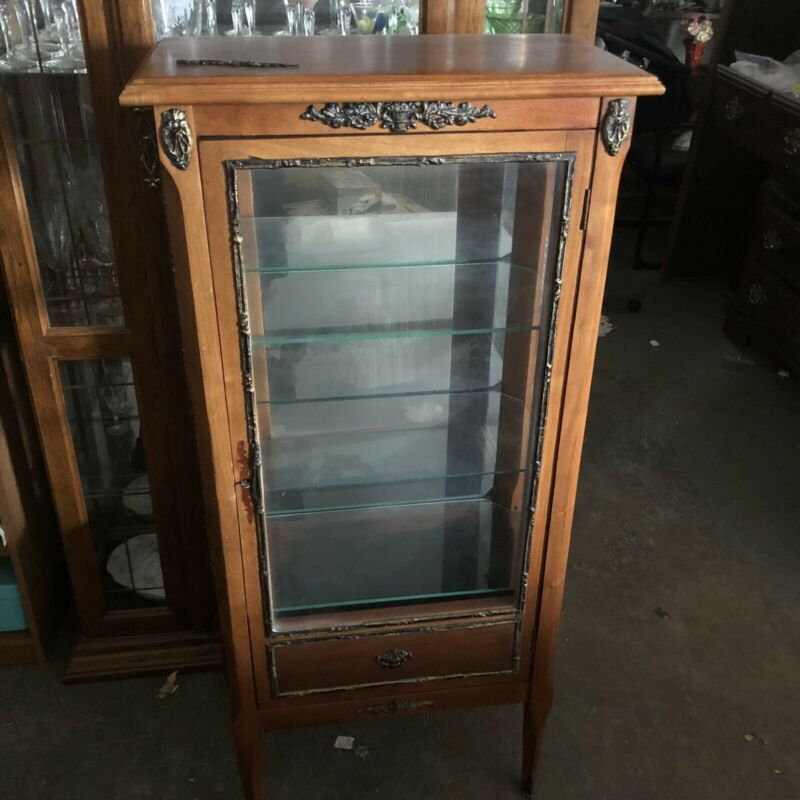 French Vintage 3 Shelfcabinet With Key LOCAL PICKUP Only