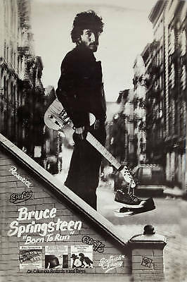 * Born To Run *:  Bruce Springsteen  Columbia Records Promo  Poster 1975 12x18