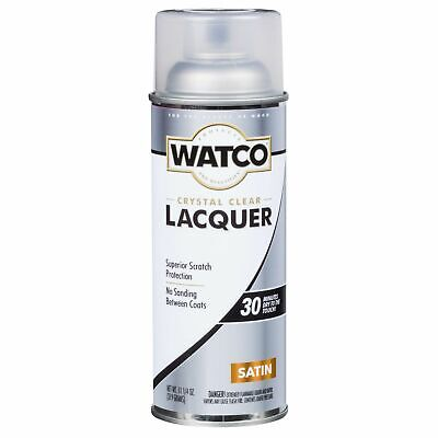Watco 63281 Lacquer Clear Wood Finish Spray, 11.25 oz, Clear Satin Spray Wood Finish