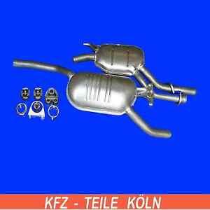 MERCEDES W124 E200  E220  220E Mittel +  Endschalldämpfer Auspuffanlage + Set