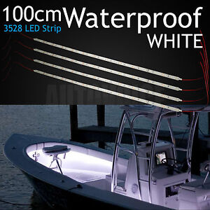 4 X 100CM White LED Waterproof Strip Lights Boat Marine Yacht Deck Decoration OZ