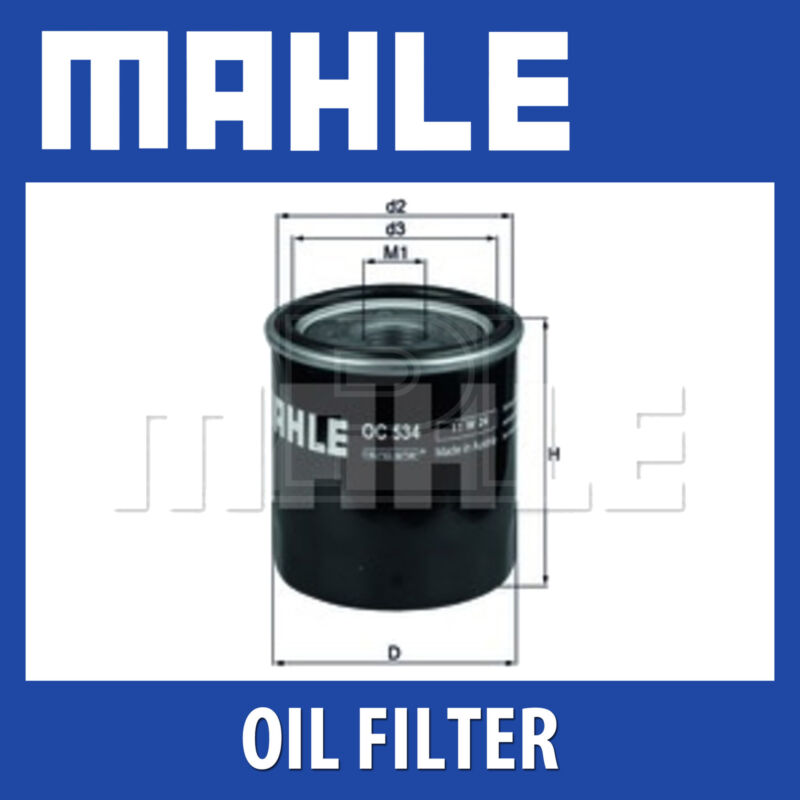 Mahle Oil Filter OC534 - Fits Toyota Auris - Genuine Part