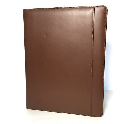 Cutter Buck Leather Executive Padfolio Writing Pad - Chestnut Brown