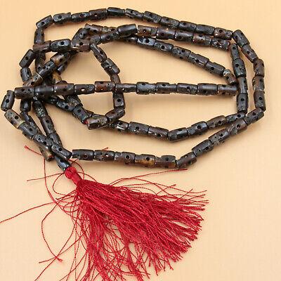Kali Mala XL 140cm Prayer Chain Skull Hinduism Yak Bone Braun India Puja Om