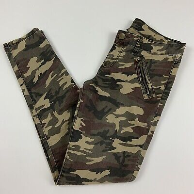 KUT From The Kloth Camo Mia Toothpick Skinny Jeans Size 6 Army