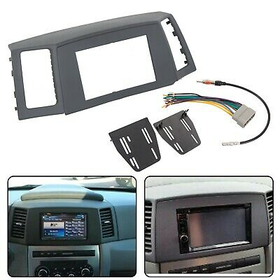 Double Din Radio Dash Kit Wiring Harness For 2005-2007 Jeep Grand Cherokee