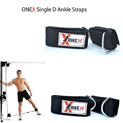 Ankle Single D Ring Gym Straps Multi Cable Attachment Leg Pulley Lifting Straps