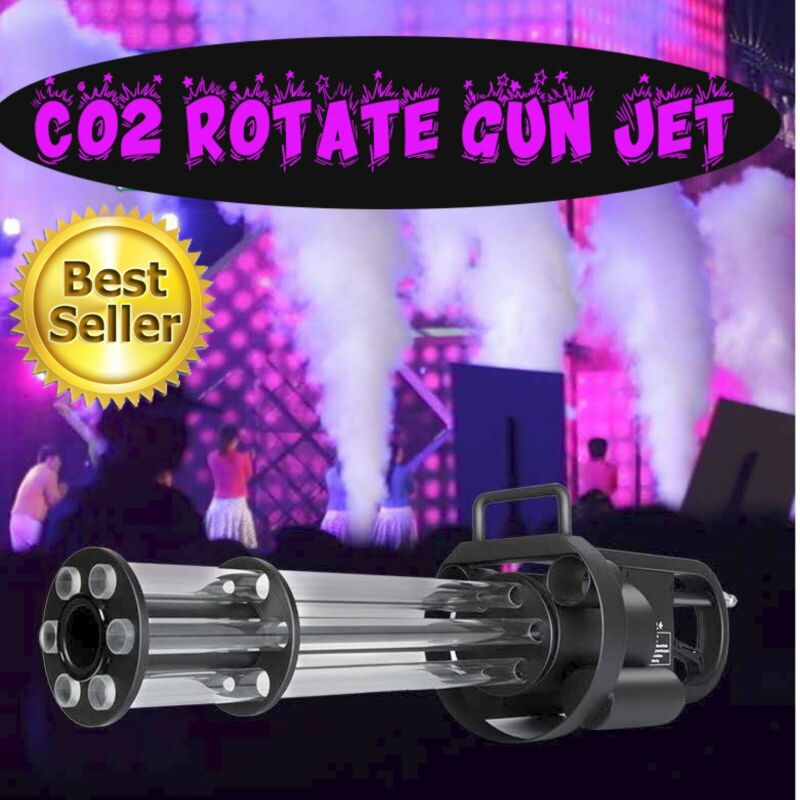 LED CO2 Gun Jet Machine Rotate Effect For DJ Disco Party With Hose Cannon RBG
