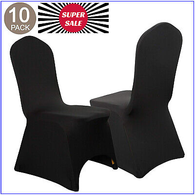 Folding Chair Seat Covers (VEEYOO Stretch Chair Covers Spandex Folding Seat Cover for Wedding Party Banquet )