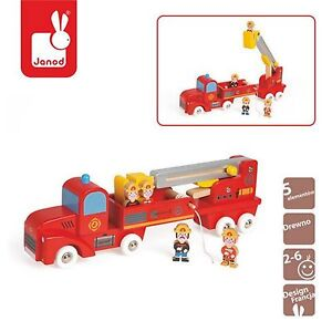 Camion-dei-Pompieri-Vigili-del-Fuoco-Giocattolo-in-Legno-JANOD-2-6-anni