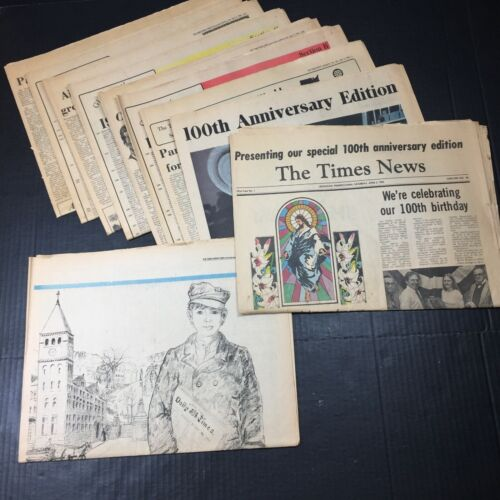 Vtg 1983 Carbon County Lehigh Valley TIMES Pennsylvania PA 100 YEARS Newspaper