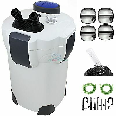 200 Gallon Aquarium Canister Filter UV 9w UV Sterilizer Fish Tank SUNSUN HW-304B - Fish Aquarium Canister Filter
