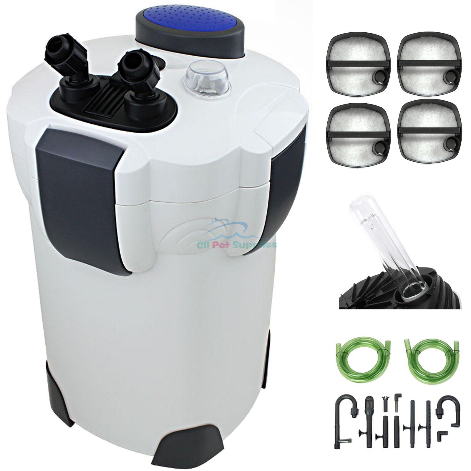 200 gallon aquarium canister filter uv 9w