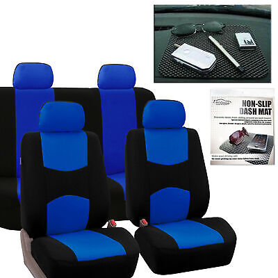 Car Seat Covers Best Full Covers in Blue For Car SUV Free Gift Dash Grip
