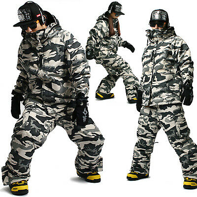 SOUTH PLAY Best Quality Ski Snowboard Jumper Blazer Jacket Pants Suits CAMO