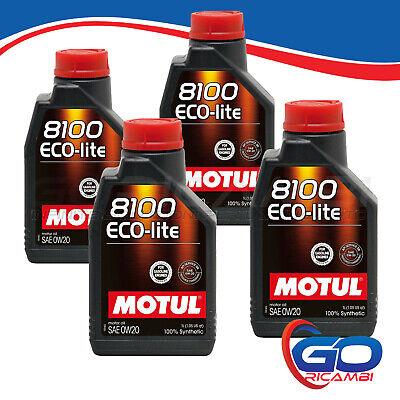4 LITRI OLIO MOTUL ECO-LITE 0W-20 100% SINTETICO - 104981