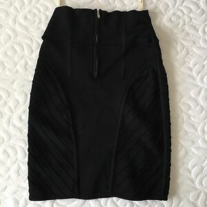 Wilfred black stretchy bandage skirt XS from Aritzia