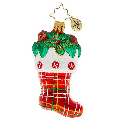 [NEW Christopher Radko CLASSIC COUNTRY STOCKING Christmas Ornament 1020269</Title]