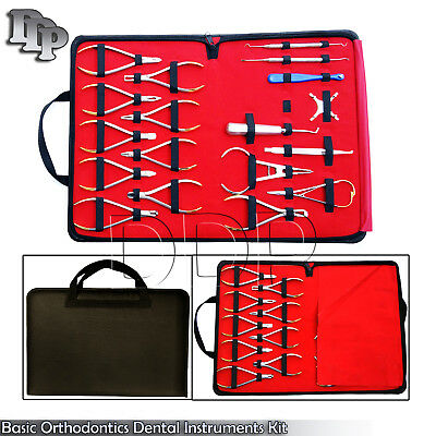 Basic Orthodontics Dental Instruments Set 18 Pcs Composite Kit Premium Dn-2123