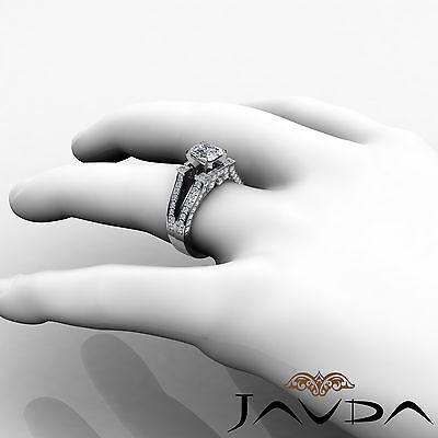 Vintage Split Shank Cushion Diamond Engagement Ring GIA Certified H VS2 2.2 Ct 3