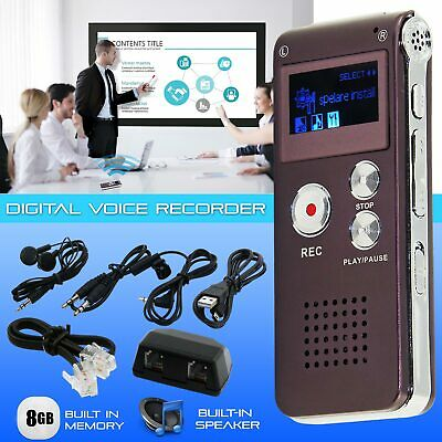 Voice Activated Mini Spy 8GB Digital Sound Audio Recorder Dictaphone MP3 Player